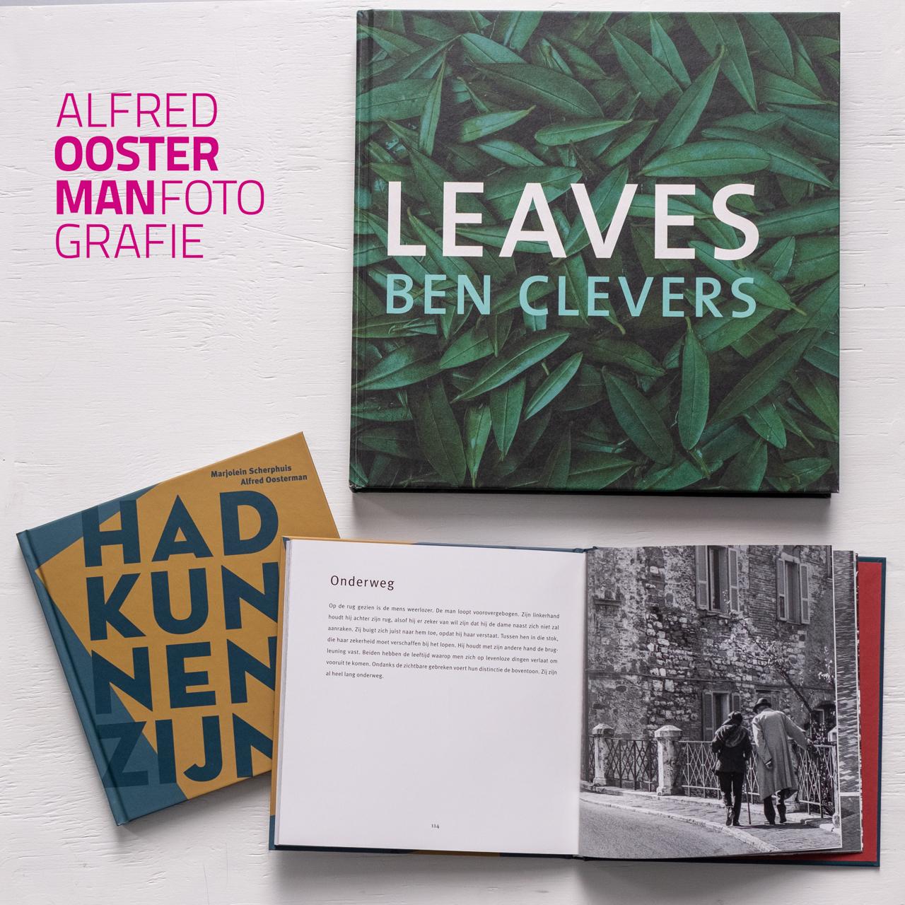 Een boek cadeau geven of krijgen blijft bijzonder. De boeken 'Had kunnen zijn' en 'Leaves' zijn te koop via de website van Alfred Oosterman fotografie: https://www.alfredoosterman.nl/toon/boeken/